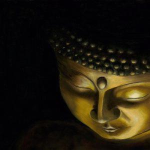 Candlelight Buddha Print