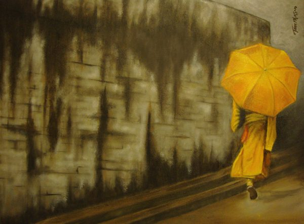 Yellow Umbrella Monk