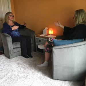 Deb and client in session
